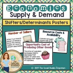 Shifters/Determinants of Supply and Demand Posters. These 8.5 x 11 printable posters are the perfect decoration for an Economics classroom! Theyre attractive AND educationalit doesn't get any better than that! I have these up in my classroom, and my students love them.