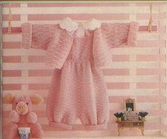 Mania-de-Tricotar: Casaquinho e jardineira em tricô