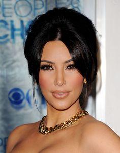 Kim Kardashian Eyebrows, Kim Kardashian Braids, Kim Kardashian Wedding, Kim Kardashian Makeup Looks, Kardashian Hairstyles, Kardashian Style, Wedding Makeup For Brown Eyes, Wedding Day Makeup, Hair Wedding