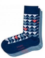 Sokken Triangle blauw - S-sentials - Sokken - Accessoires - Heren - Shoeby - Men Socks