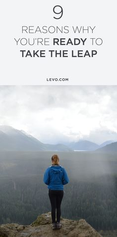 If you're in discomfort now, celebrate because it means you are ready to TAKE THE LEAP and start acting on the ideas that have been calling to you. @levoleague www.levo.com