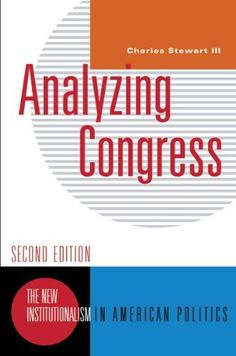 Analyzing Congress (Second Edition)  (New Institutionalism in American Politics) by Charles Stewart III, http://www.amazon.com/dp/039393506X/ref=cm_sw_r_pi_dp_XYEprb0W6BVH0