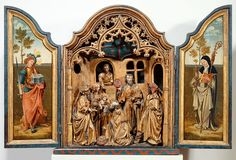 Antwerp altarpiece, Adoration of the Magi - Anonymous 1515