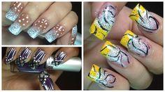 Cute Nail Art Designs - Nail Art Ideas - Pretty Nails Designs - nail tut... Diy Manicure, Diy Nails, Cute Nails, Pretty Nails, Cute Nail Art Designs, Red Nail Designs, Simple Nail Designs, Nail Design Video, Nails Design