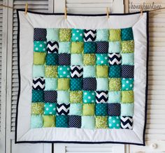 green navy turquoise and aqua--design a whole nursery around this quilt!