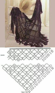 Shawl stitch chal crochet
