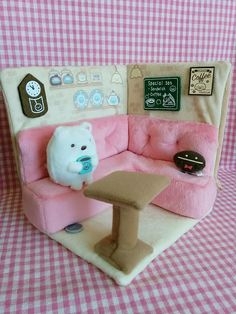 SUMIKKO GURASHI Cafe Kissa Plush Tearoom & Shirokuma(polar bear) Tenori San-X