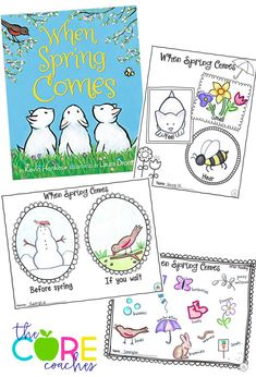 "Reading and writing activities for ""When Comes Spring"" by Kevin Henkes"