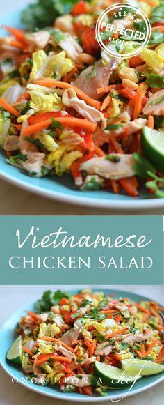Vietnamese Shredded Chicken Salad #chickensalad #vietnamesefood