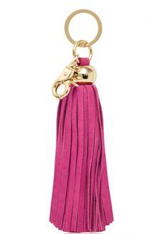 Russell + Hazel Pink Tassel Keychain