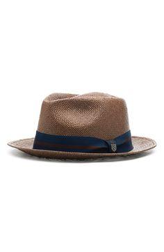 Brixton 'Baxter' Straw Fedora available at Straw Fedora, Fedora Hats, Classy Men, Hats Online, Cool Hats, Summer Accessories, Brixton, Mens Caps, Summer Hats