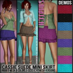 Sn@tch Cassie Suede Mini Skirt Vendor Ad LG | Flickr - Photo Sharing!