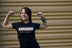 Love More Ladies Tee. Part of the More Collection from Unashamed Clothing Co. Faith Meets Fashion. Unashamed. www.unashamedtees.com