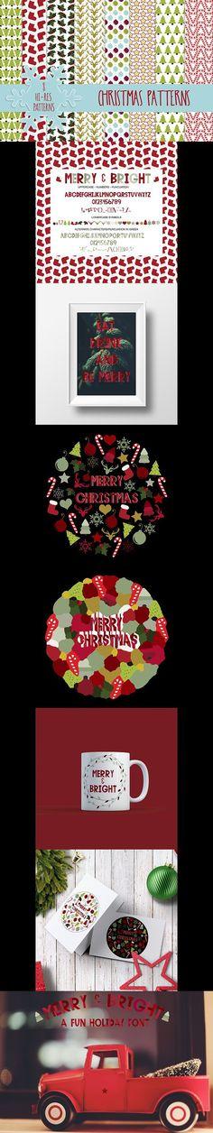 Merry & Bright . Scrapbooking Fonts