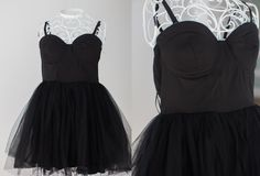 Black strapless tutu dress - sized 12 could fit 14 and under