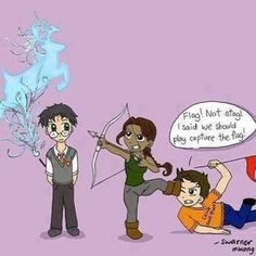 Harry Potter / Hunger Games / Percy Jackson crossover c: