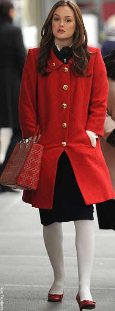 Blair • 2x14 • Gossip Girl • DVF jacket and skirt. Milly coat. Marc by Marc Jacobs shoes. Dior bag.