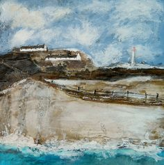 'The lighthouse on yonder'  by Louise O'Hara of DrawntoStitch www.drawntostitch.com