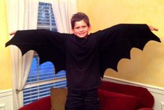DIY Bat Wings Costume DIY Halloween- I made this for Aiden from this tutorial. -Ciara
