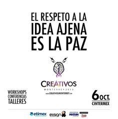 #CREATIVOS recuerden separar su lugar para la conferencia de nuestro amigo MORFO http://www.youtube.com/user/morfologico/videos