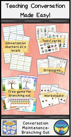 Do your students go off topic? There are strategies, visuals and opportunities for practicing conversation maintenance in this skill building set!