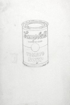 Andy Warhol. Campbell's Soup Can (Tomato). (c. 1962)