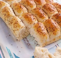 Breakfast Bread with Cheese and Caraway / Frokostbrød med Ost og Karve Baked Cheese, Cheese Bread, Bread Recipes, Baking Recipes, Vegan Recipes, Norwegian Food, Piece Of Bread, Retro Recipes, Sweet Bread