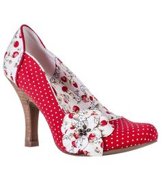 Damen Pumps RUBY SHOO Loretta Punkta Früchte Schuhe Rot