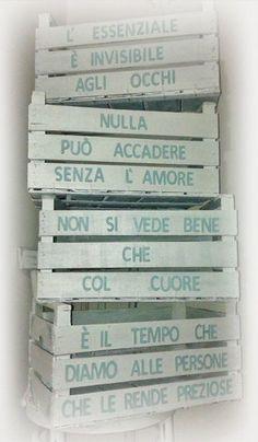 """Restyling di Cassette Legno """"Non solo Frutta"""":"""