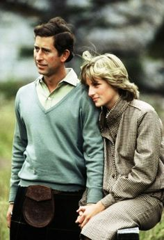 Prince Charles and Princess Diana on their honeymoon in Balmoral. I've always loved this tweed skirt suit!