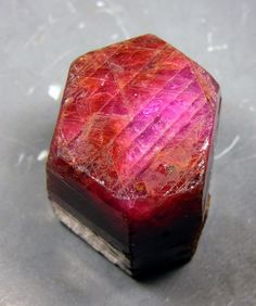 Ruby (the red variety of Corundum) from Burma (by Manfred Kampf)