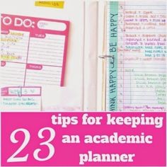 Keep your planner open as often as possible so that its contents are visible reminders! Use large Post-It's or paperclips to keep lists of things in your planner; toss them when you finish. And a bunch of other useful tips!