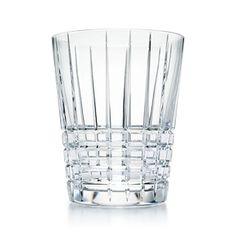 Plaid ice bucket in crystal, mini.