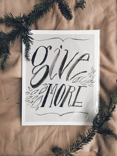 Give More Poster