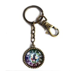 Homestuck Keychain Key Chain Cute Keyring Car Fashion Key Ring God Mandala Art Pendant Cosplay Zodiac. Size:L8X3CM Pendant Size: 2.9CM Colors: Ancient bronze Material:Alloy+Glass.