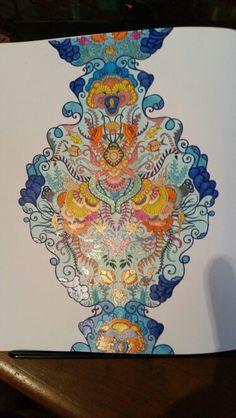 Johanna basford Lost Ocean coloured by Joanne Watts