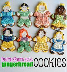 adorable disney princess cookies!