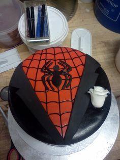 spiderman grooms cake - Google Search