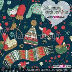 So Kommt Man Durch Den Winter -  von Julia Vyazovskaya. Designerstoff bei www.stoff.love
