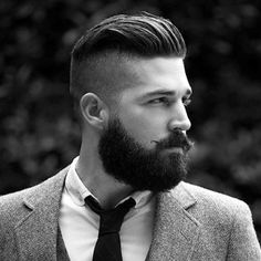 Manly Hairstyles and Beards - Undercut with Slick Back and Short Beard