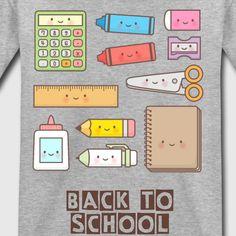 Kawaii School Supplies T-Shirt | Spreadshirt