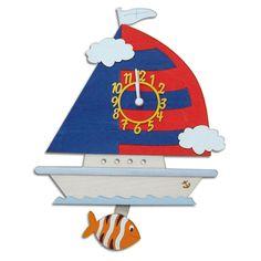 Children's Wall Clock - Boat