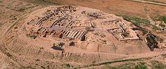 Israel - Beersheba tell aerial from south2, tb010703wr Tel Be'er Sheva National Park – Remains of biblical Beersheba