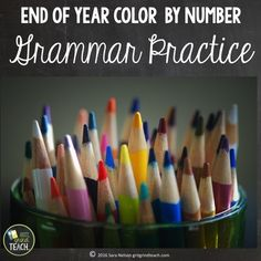 End of Year Activities for Middle School Color By Number G