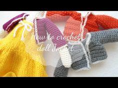 Doll crochet # Part 2 - YouTube - Tiny Cardigan for AMIGURUMI