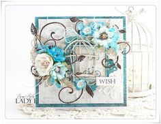Hi :)I love bird cages and I use them a lot on my cards :)Today I'd love to share with you 2 cards with lovely bird cages and flowers from Wild Orchid Crafts   Thank you have a lovely weekend :)Lady E