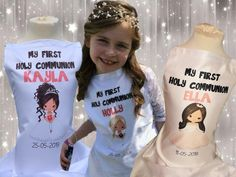Protect your Childs Communion outfit or beautifull dress with a Personalised Communion Apron Universal size years