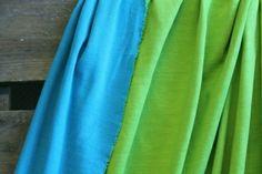 Lillestoff Doubleface Interlock türkis lime beidse von Stoff-Zaubereien auf DaWanda.com