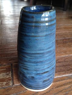 My pottery - Glaze - Amaco textured turquoise (3 coats) over Amaco blue midnight (1 coat) - On white clay