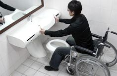 Universal Toilets for wheelchair access users #disabilityliving #bathroom